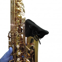 Alto Sax Bell Cover in Black