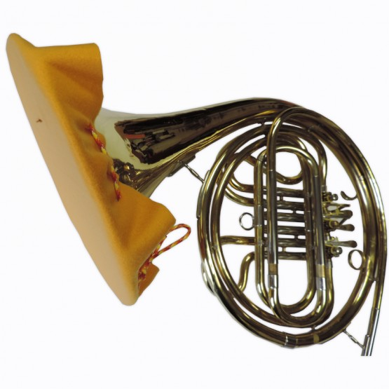 French Horn Bell Cover in Gold