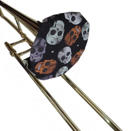 Trombone Bell Cover in Skull