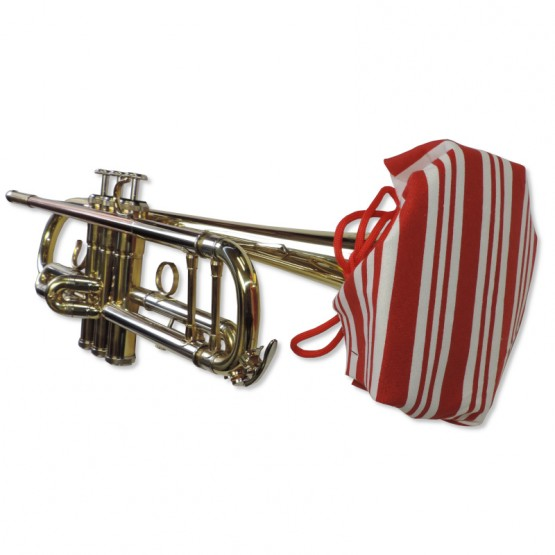 Trumpet Bell Cover in Candy Cane